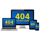 404 error page vector template Royalty Free Stock Image