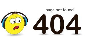 404 error page vector template for website. Surprised emotion, huh emotion. royalty free illustration