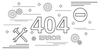 404 error page web banner Royalty Free Stock Photography