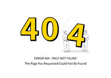 Error 404 page with workers vector illustration Stock Image