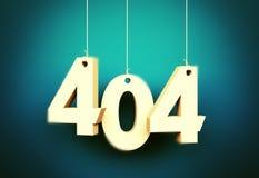 Error 404 Paginación no encontrada Imagen de archivo