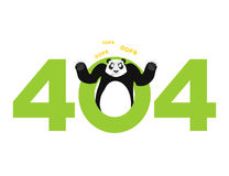 Error 404. panda surprise. Page not found template for web site. Stock Images