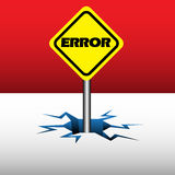 Error plate Royalty Free Stock Image