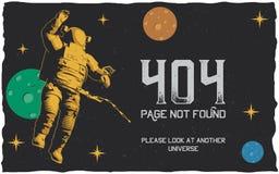 404 Error Poster Stock Photos