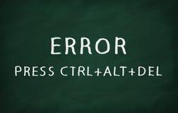 ERROR PRESS CTRL+ALT+DEL Royalty Free Stock Photography