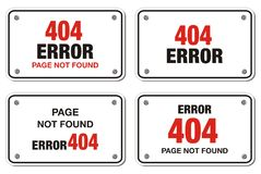 404 error rectangle sign Royalty Free Stock Photos