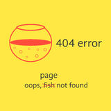 404 error with red empty aquarium Royalty Free Stock Photo