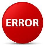 Error red round button. Error isolated on red round button abstract illustration Stock Photo