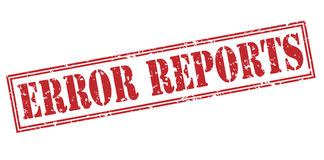 Error reports red stamp Royalty Free Stock Image