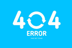 404  error with restrat icon notebook design Royalty Free Stock Photos
