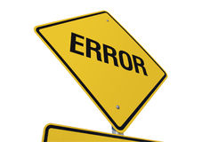 Error Road Sign Stock Photos