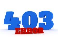 error rojo y azul de 3d del texto 403 en el fondo blanco Imágenes de archivo libres de regalías