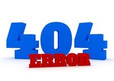 error rojo y azul de 3d del texto 404 en el fondo blanco Foto de archivo libre de regalías