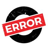 Error rubber stamp Royalty Free Stock Photo