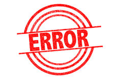 ERROR Rubber Stamp. Over a white background Royalty Free Stock Photo