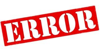 Error. Rubber stamp with word error inside,  illustration Stock Images