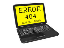 404 error on the screen Stock Photo