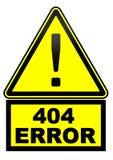 Error 404 Señal de peligro stock de ilustración