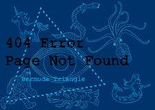 404 error service down unavailable bermuda concept Royalty Free Stock Photography