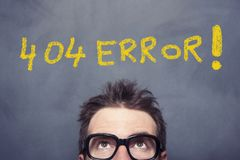 404 Error Royalty Free Stock Photography