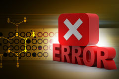 Error sign Royalty Free Stock Image
