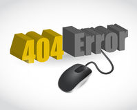 404 error sign and mouse illustration design Royalty Free Stock Photography