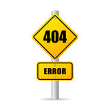 404 error sign Royalty Free Stock Photography