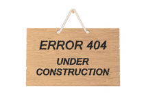 Error 404 sign Stock Photos