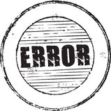 Error stamp. Abstract grunge rubber stamp with the text error Stock Image