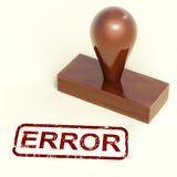 Error Stamp Shows Mistake Fault Or Defects Royalty Free Stock Photography