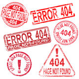 404 Error Stamps Stock Photos
