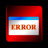 Error symbol Stock Image