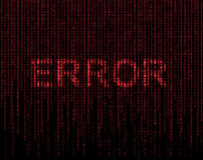 Error symbol Royalty Free Stock Photo