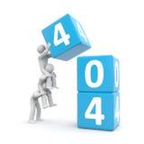 404 error. Teamwork Royalty Free Stock Image