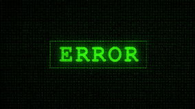 Error Text - Digital Data Code Matrix Royalty Free Stock Image