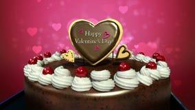 Error tipográfico 'día de tarjetas del día de San Valentín feliz' en la torta (alfa incluida)