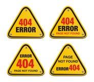 Error 404 triangle signs Stock Image