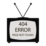 404 error tv Royalty Free Stock Photography