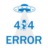 Error 404 UFO and cow Stock Photography