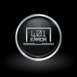 Error 401 unauthorized icon inside round silver and black emblem Royalty Free Stock Images