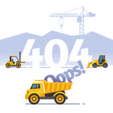 Error vector not found web page concept. 404 error vector not found web page concept. Problem with website illustration Royalty Free Stock Images