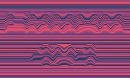 Error 404. Vector striped background. Abstract color waves. Sound wave oscillation. Funky curled lines. Stock Photos