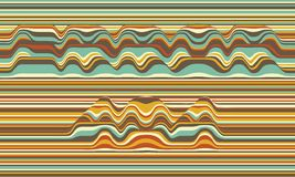 Error 404. Vector striped background. Abstract color waves. Sound wave oscillation. Funky curled lines. Elegant wavy texture. Surface distortion. Colorful Stock Image