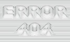 Error 404. Vector striped background. Abstract grayscale waves. Sound wave oscillation. Funky curled lines. Elegant wavy texture. Surface distortion. Colorful Stock Photography