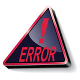 Error warning Royalty Free Stock Photo
