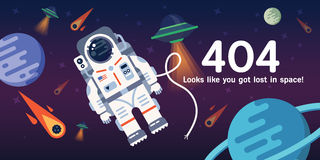 404 error web page Royalty Free Stock Images