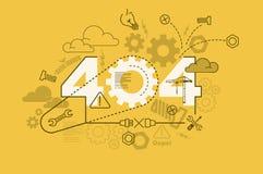404 error website banner concept with thin line flat design Stock Photos