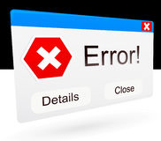 Error Window Royalty Free Stock Photo