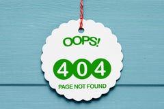 Errore 404 Fotografie Stock Libere da Diritti
