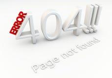 Errore 404!!! Immagini Stock